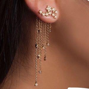 Gold Star drop earrings NWT